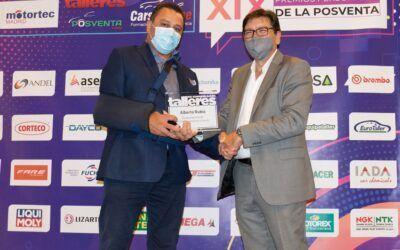ALBERTO RUIZ, de RECAMBIOS DEL AUTOMÓVIL AREA 8, SOCIO DE DIPART, RECIBIÓ EL PREMIO A SU TRAYECTORIA